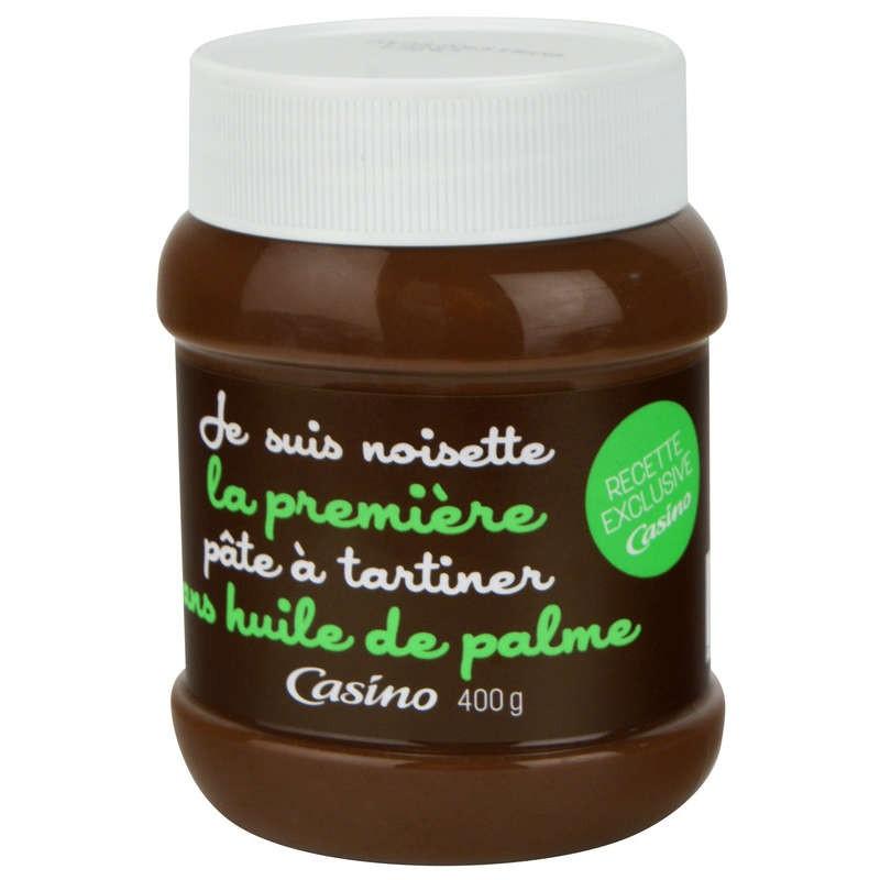 CASINO Je suis noisette la première pâte à tartiner sans huile de palme 400g