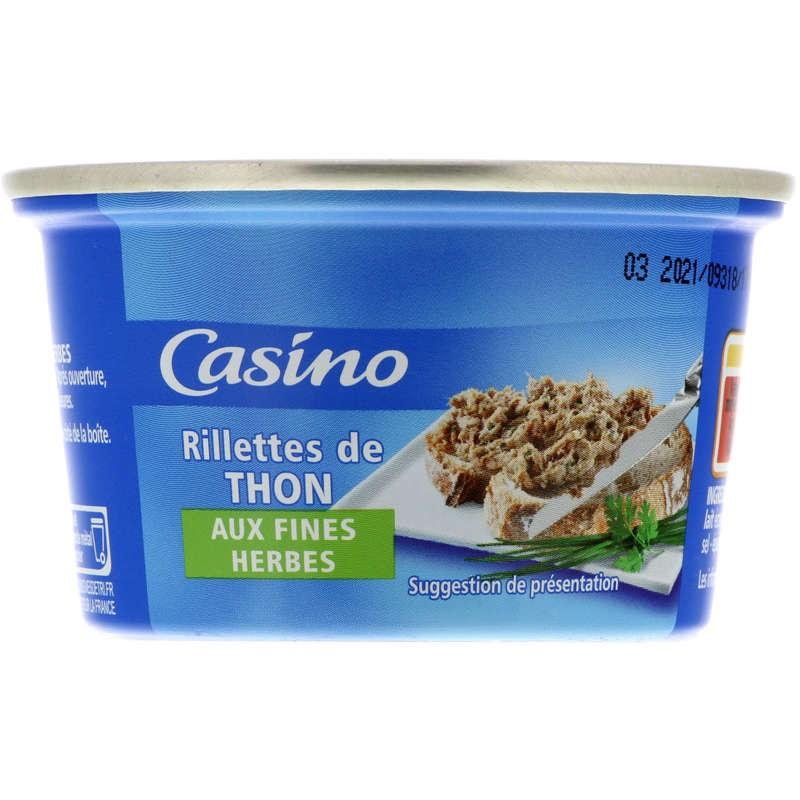 CASINO Rillettes de thon aux fines herbes 120g