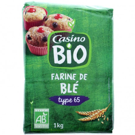 CASINO BIO Farine de blé Bio 1kg