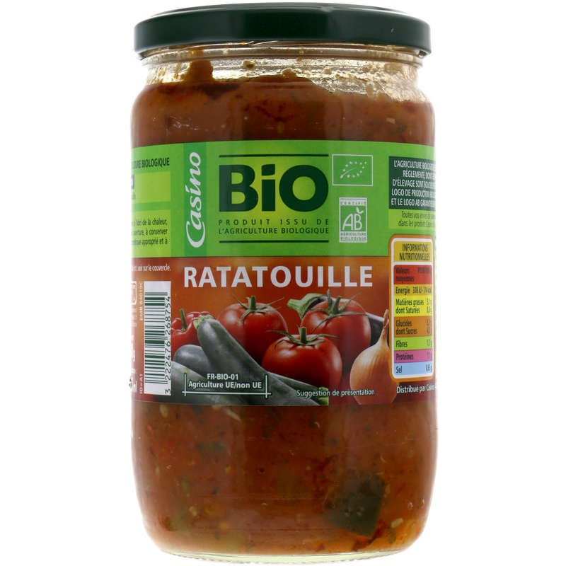 CASINO BIO Ratatouille Bio 72cl