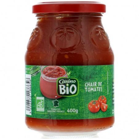 CASINO BIO Pulpe de tomate Bio 400g