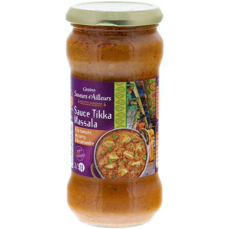 CASINO SAVEURS D'AILLEURS Sauce Tikka Massala 350g