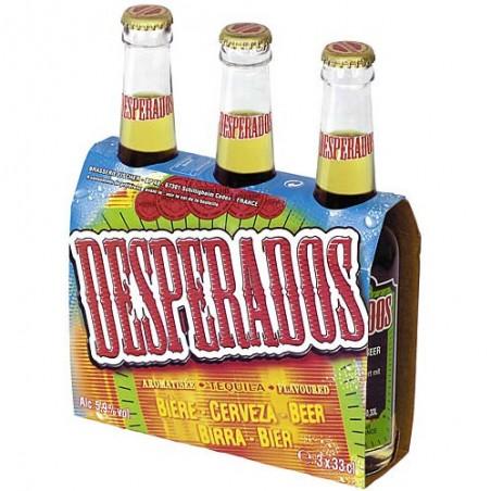 DESPERADOS Bière blonde à la téquila 5.9° 3x33cl