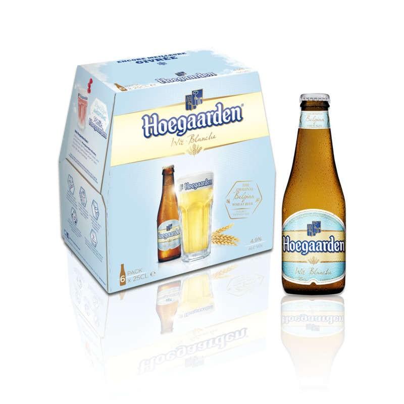 HOEGAARDEN Bière blanche 4.9° 6x25cl