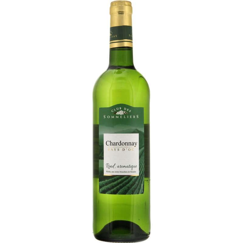 CLUB DES SOMMELIERS Pays d'Oc Chardonnay Blanc IGP 75cl
