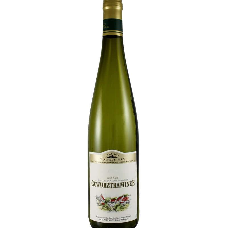 CLUB DES SOMMELIERS Alsace Gewurztraminer Blanc 75cl
