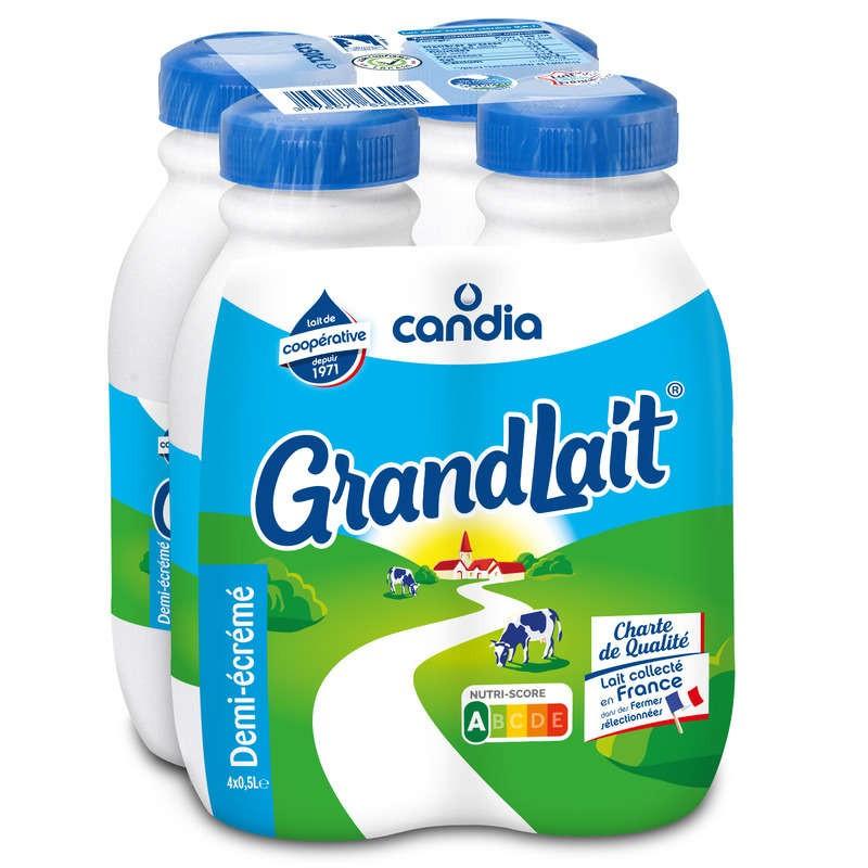 CANDIA Grand lait demi-écremé 4x50cl