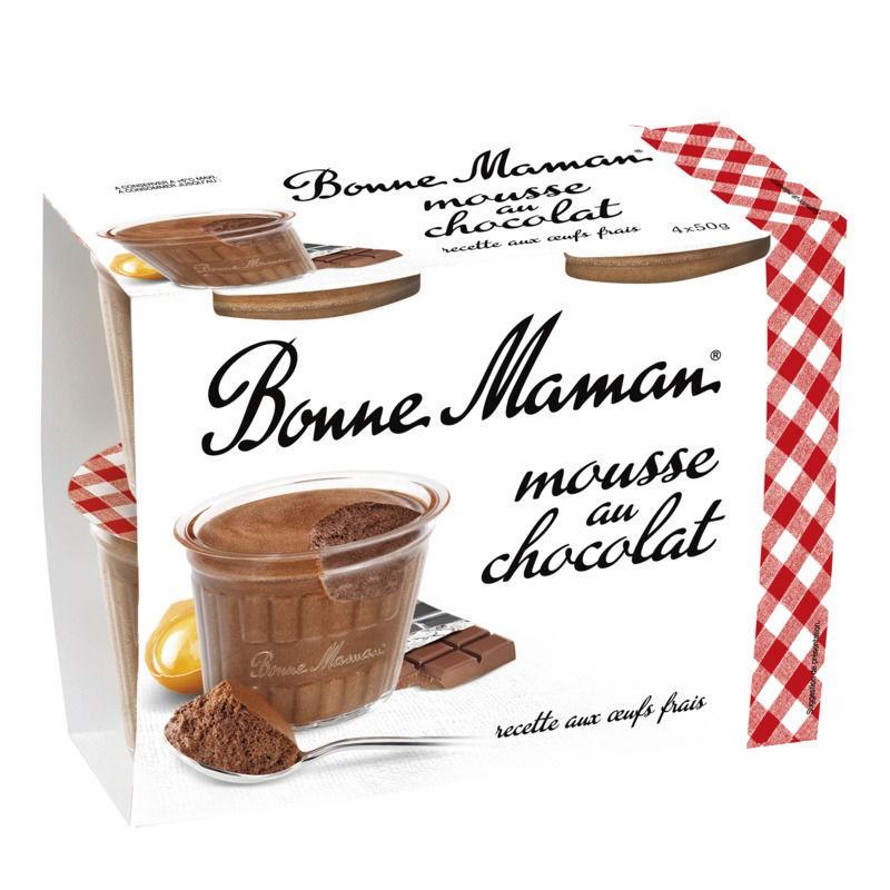 BONNE MAMAN Mousse au Chocolat 4x50g