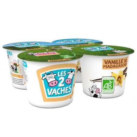 LES 2 VACHES Yaourt Vanille Bio 4x115g