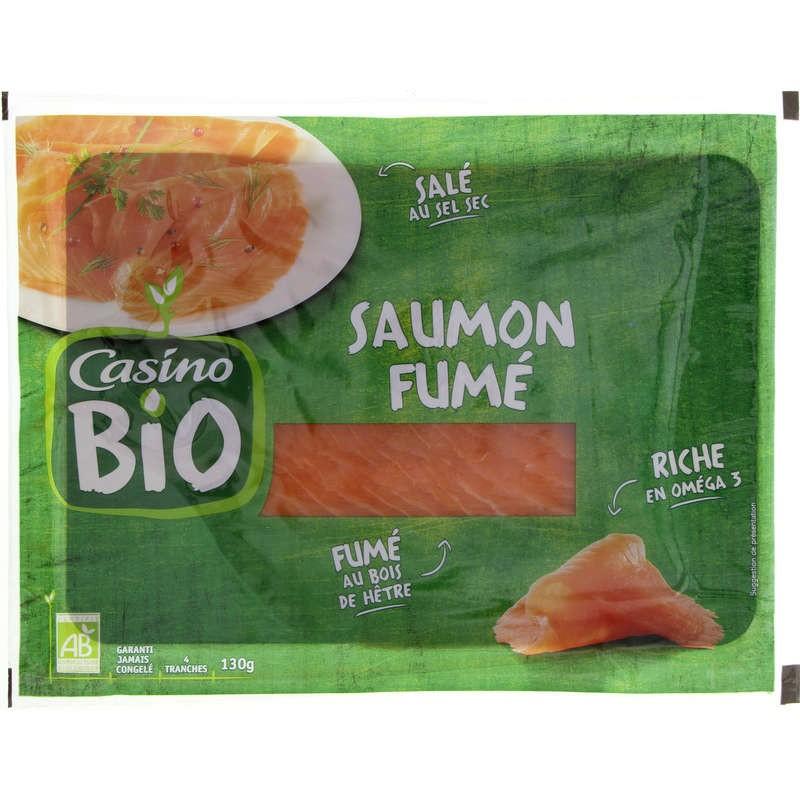 CASINO BIO Saumon fumé 120g