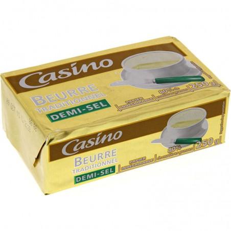 CASINO Beurre traditionnel demi-sel 250g