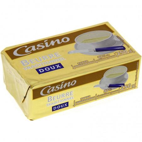 CASINO Beurre traditionnel doux 250g