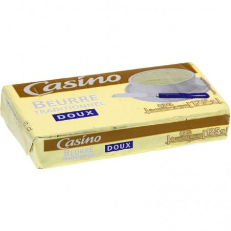 CASINO Beurre traditionnel doux 125g