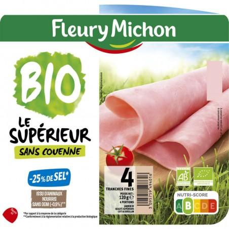 FLEURY MICHON Jambon Supérieur Bio sans couenne -25% 120g