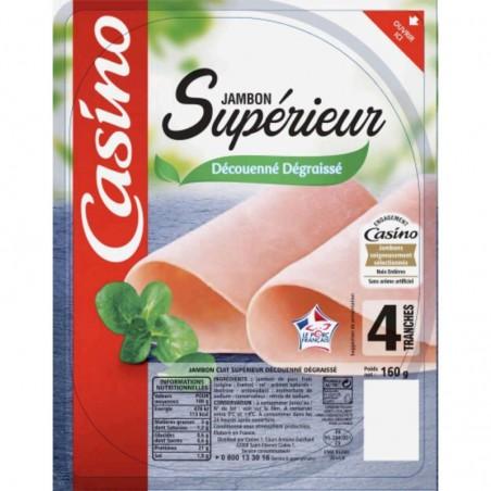 CASINO Jambon supérieur Découenné Dégraissé 4 tranches VPF 160g