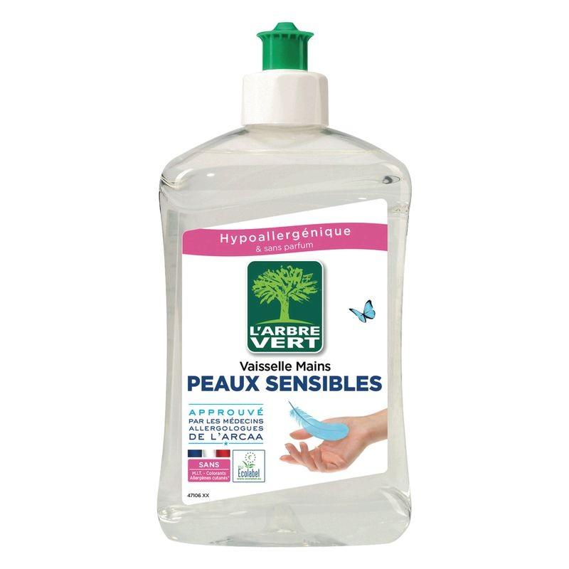ARBRE VERT Liquide vaisselle et mains écologique Peaux Sensibles 500ml