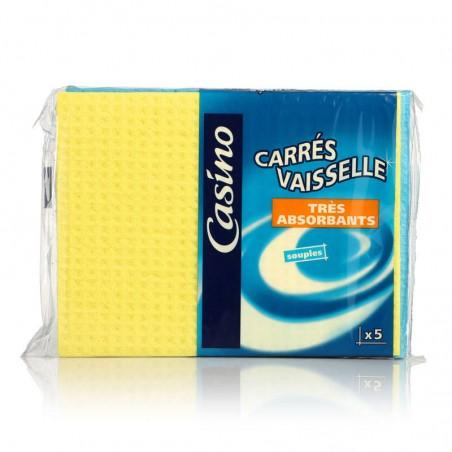 CASINO Carrés vaisselle x5