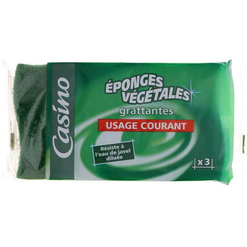 CASINO Eponges Végétales grattantes Usage Courant x3