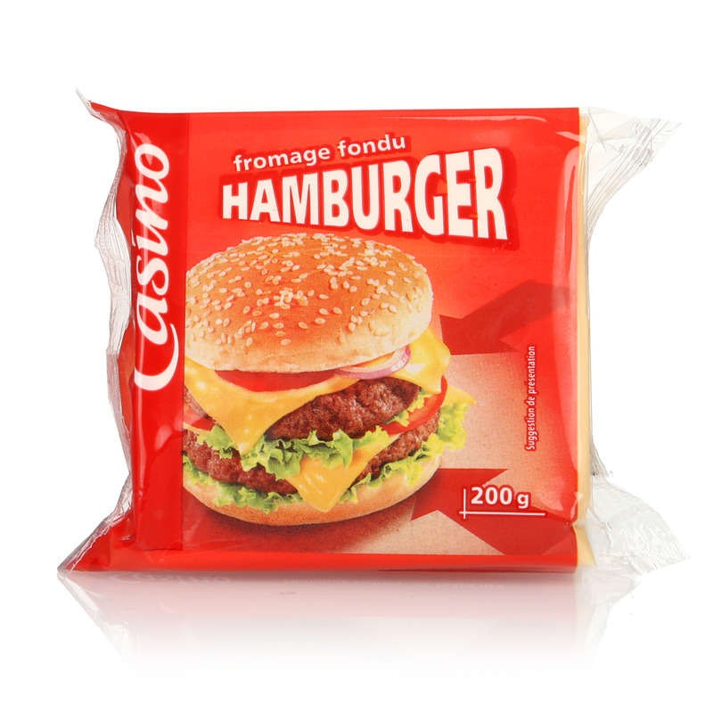 CASINO Fromage fondu hamburger 200g
